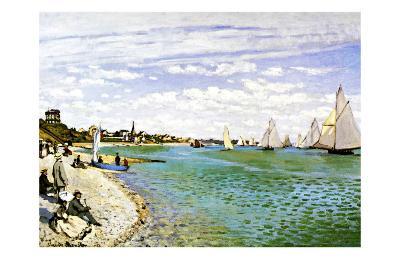 The Beach at Sainte Adresse-Claude Monet-Giclee Print