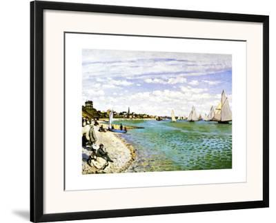 The Beach at Sainte Adresse-Claude Monet-Framed Giclee Print