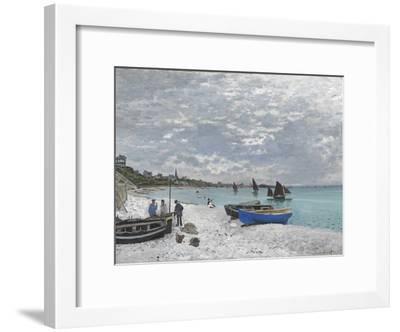 The Beach at Sainte-Adresse-Claude Monet-Framed Giclee Print