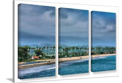 The Beach At Santa Barbara, 3 Piece Gallery-Wrapped Canvas Set-Steve Ainsworth-Gallery Wrapped Canvas Set