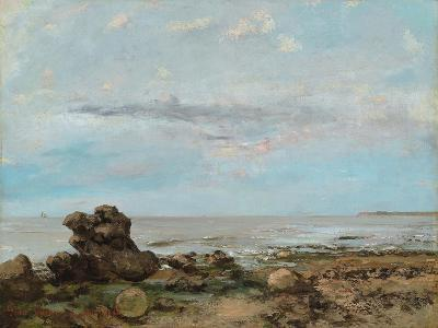 The Beach at Trouville, 1865-Gustave Courbet-Giclee Print