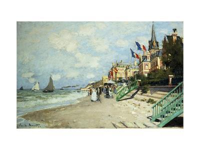The Beach at Trouville-Claude Monet-Premium Giclee Print