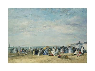 The Beach at Trouville-Eug?ne-Louis Boudin-Giclee Print
