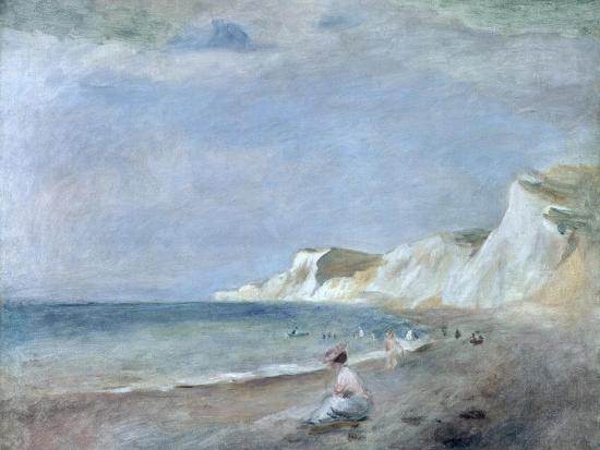 The Beach at Varangeville, C.1880-Pierre-Auguste Renoir-Premium Giclee Print