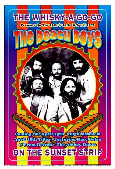 The Beach Boys at the Whiskey A-Go-Go-Dennis Loren-Art Print