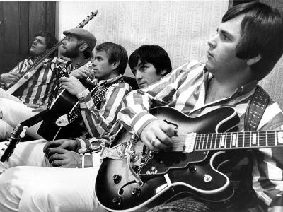 The Beach Boys (Dennis Wilson, Dave Marks, Carl Wilson, Brian Wilson and Mike Love) July 11, 1966--Photo