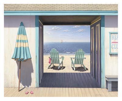 The Beach Club-Daniel Pollera-Art Print