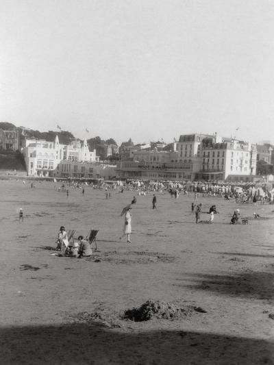 The Beach, Dinard, Brittany, 20th Century--Photographic Print