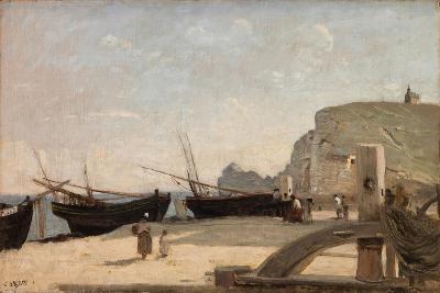 The Beach, Etretat, 1872-Jean-Baptiste-Camille Corot-Giclee Print