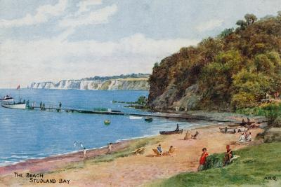 The Beach, Studland Bay-Alfred Robert Quinton-Giclee Print