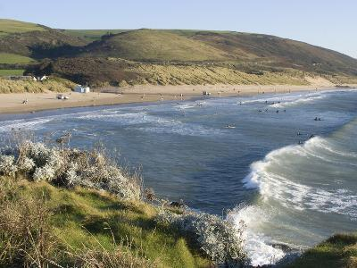 The Beach with Surfers at Woolacombe, Devon, England, United Kingdom, Europe-Ethel Davies-Photographic Print