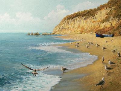The Beach-kirilstanchev-Art Print