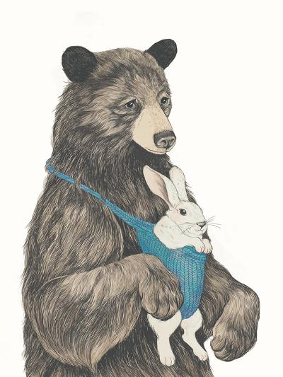 The Bear Aupair-Laura Graves-Art Print