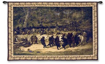 The Bear Dance-William Holbrook Beard-Wall Tapestry