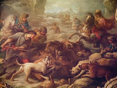 The Bear Hunt-Carle van Loo-Giclee Print