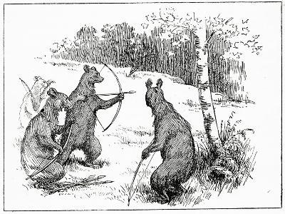 The Bears Practicing Shooting Arrows, from 'The Book of Myths' by Amy Cruse, 1925--Giclee Print