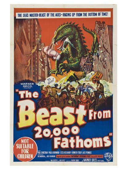 The Beast From 20,000 Fathoms, Australian Movie Poster, 1953--Art Print