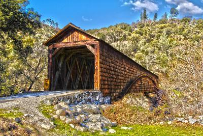 The Beautiful Bridgeport Covered Bridge over South Fork of Yuba River in Penn Valley, California-John Alves-Photographic Print