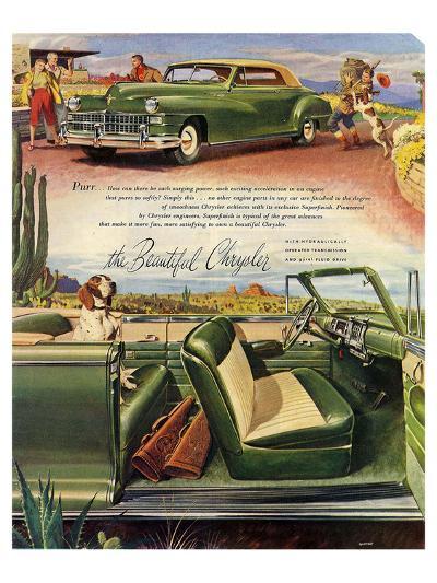 The Beautiful Chrysler - Purr--Art Print