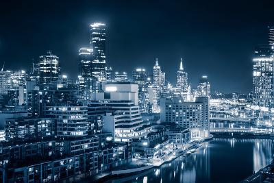 The Beautiful City of Melbourne at Night-kwest19-Photographic Print