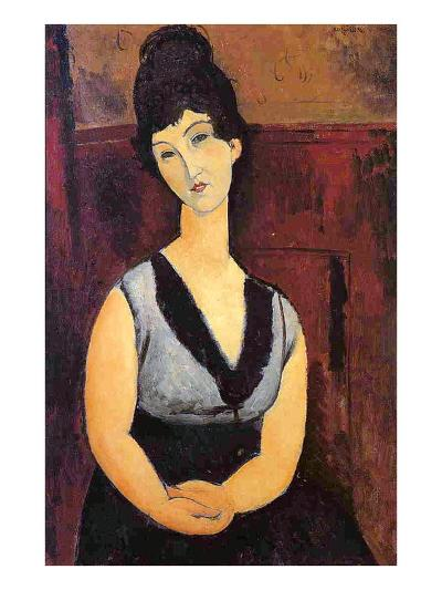 The Beautiful Confectioner, 1916-Amedeo Modigliani-Giclee Print