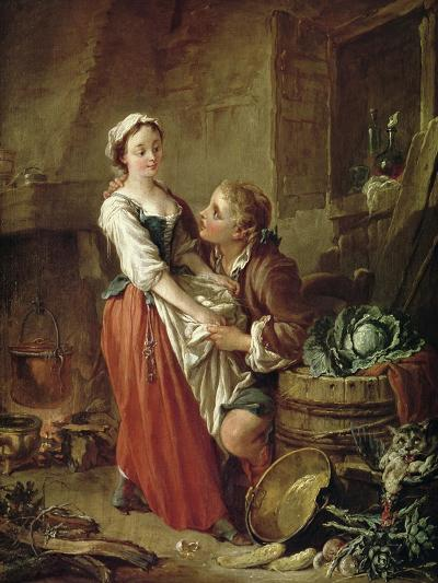 The Beautiful Kitchen Maid-Francois Boucher-Giclee Print