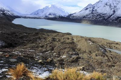 The Beautiful Mueller Glacier Lake at the Head of the Kea Point Track in Mt-Paul Dymond-Photographic Print
