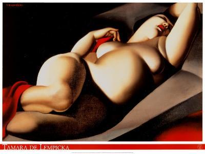 The Beautiful Rafaela-Tamara de Lempicka-Art Print