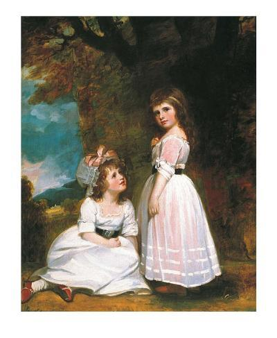 The Beckford Children-George Romney-Art Print