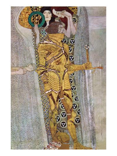 The Beethoven Frieze 2-Gustav Klimt-Art Print