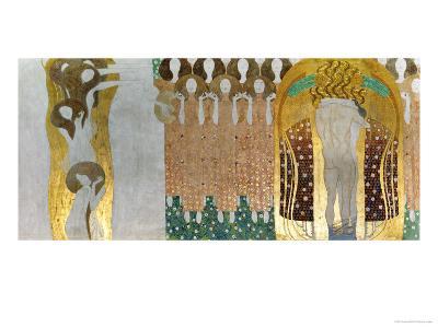 The Beethoven Frieze-Gustav Klimt-Giclee Print