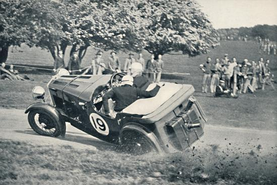 'The beginning of a spill at Donington Park', 1937-Unknown-Photographic Print