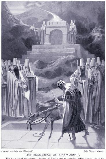 The Beginnings of Fire-Worship-Herbert Gandy-Giclee Print