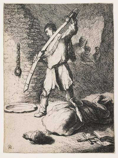 The Beheading of John the Baptist-Rembrandt van Rijn-Giclee Print
