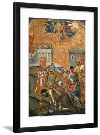 The Beheading of St. John the Baptist, Icon, Greece--Framed Giclee Print