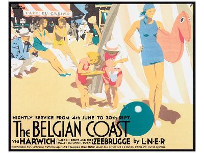 The Belgian Coast-Frank Newbould-Art Print