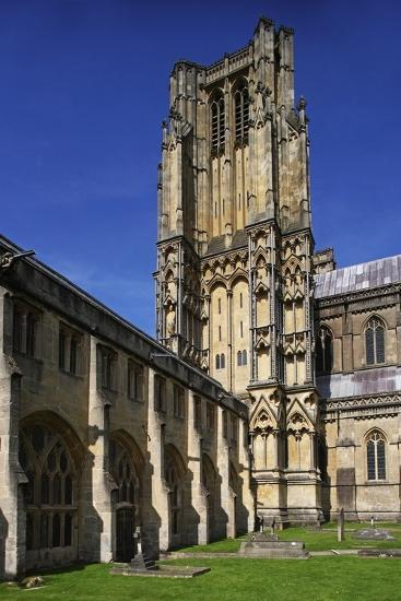 The Bell Tower of Wells Cathedral (12th-15th Century)--Photographic Print