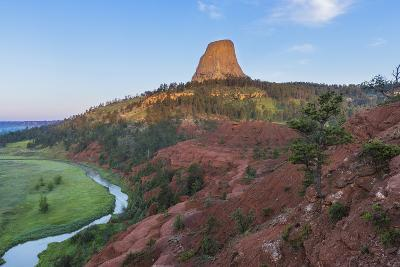 The Belle Fourche River Run Below Devils Tower National Monument, Wyoming, Usa-Chuck Haney-Photographic Print