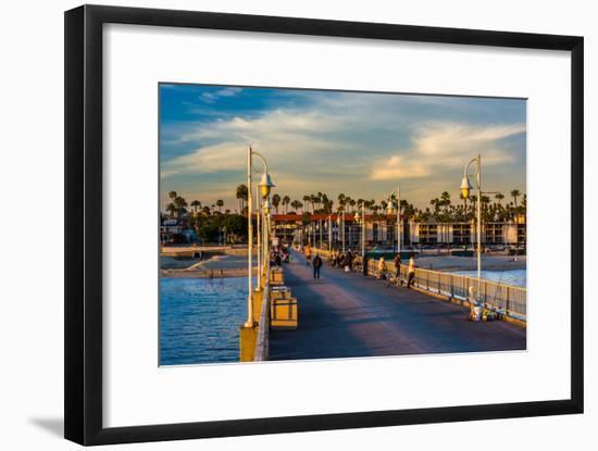 The Belmont Pier in Long Beach, California.-Jon Bilous-Framed Photographic Print