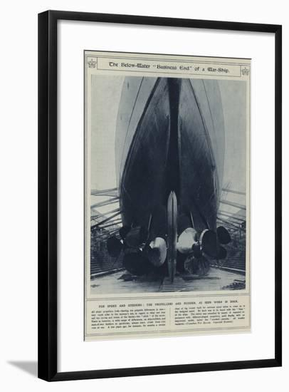 """The Below-Water """"Business End"""" of a War-Ship--Framed Photographic Print"""