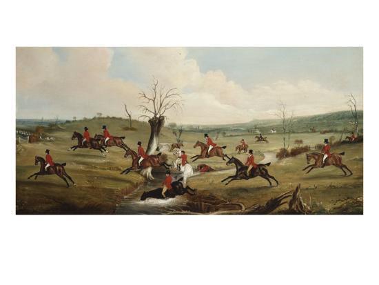 The Belvoir Crossing the Smite. ,, c.1823-John E^ Ferneley-Giclee Print