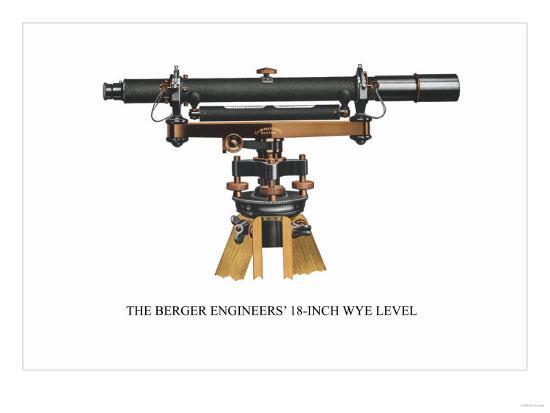 The Berger Engineers' 18 Inch Wye Level--Art Print