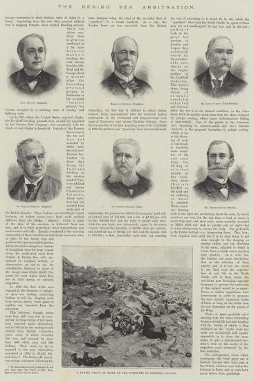 The Bering Sea Arbitration--Giclee Print