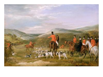 The Berkeley Hunt, 1842: the Meet-Francis Calcraft Turner-Giclee Print