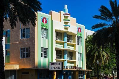 The Berkeley Shore Hotel in the Art-Deco District of Miami Beach - Florida-Philippe Hugonnard-Photographic Print