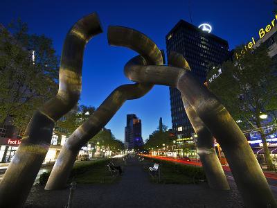 The Berlin Sculpture by Night, Tiergarten, Berlin, Germany-Cahir Davitt-Photographic Print