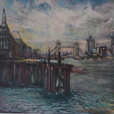 The Bermondsey Wall London-John Erskine-Giclee Print