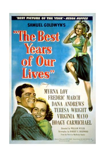 The Best Years of Our Lives, Dana Andrews, Teresa Wright, Virginia Mayo, 1946--Giclee Print