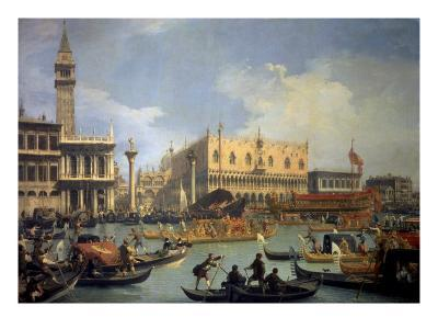 The Betrothal of the Venetian Doge to the Adriatic Sea-Canaletto-Premium Giclee Print