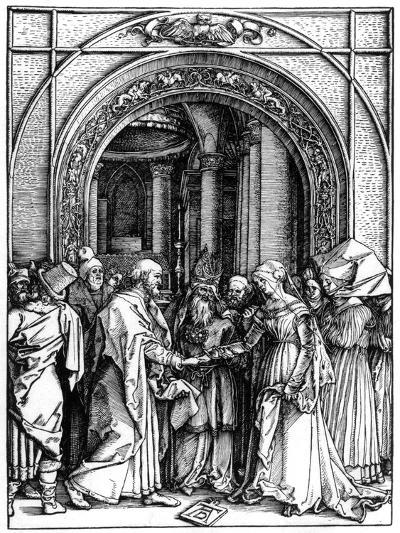 The Betrothal of the Virgin, from the Life of the Virgin, C.1504-Albrecht D?rer-Giclee Print